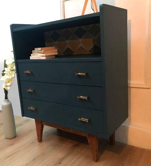 commode scandinave vintage luckyfind. Black Bedroom Furniture Sets. Home Design Ideas