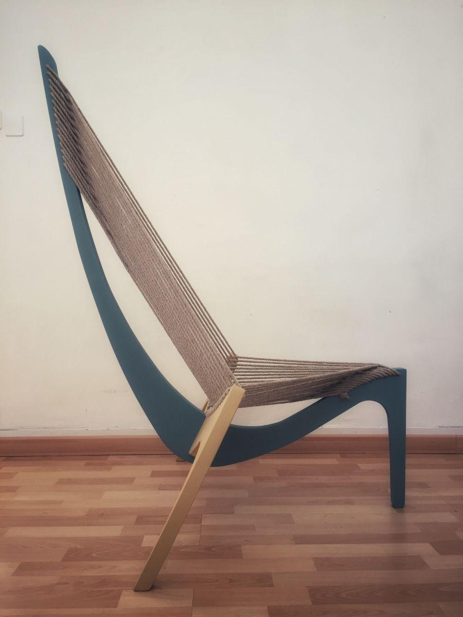 fauteuil design de type harp chair luckyfind. Black Bedroom Furniture Sets. Home Design Ideas