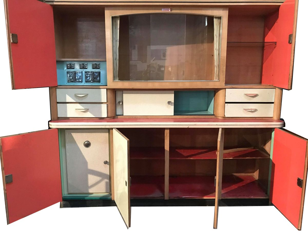 meuble cuisine formica vintage de marque chatelain 1960 luckyfind. Black Bedroom Furniture Sets. Home Design Ideas