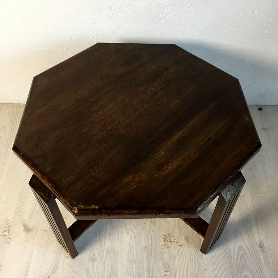 table basse octogonal art deco luckyfind. Black Bedroom Furniture Sets. Home Design Ideas