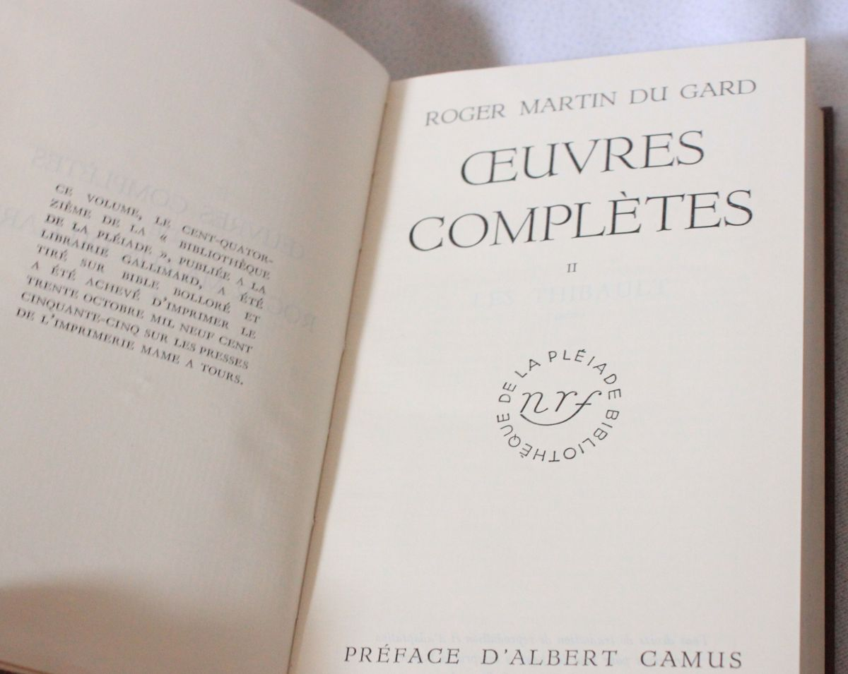 martin du gard oeuvres completes tome 2