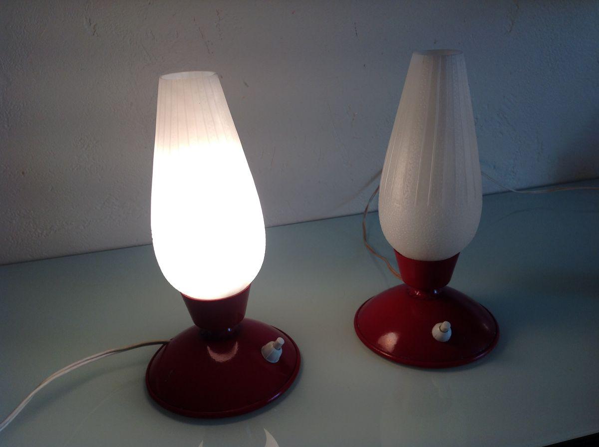 Lampes Chevet De Tulipe 60 Vintage Forme Années Paire j5AL34R