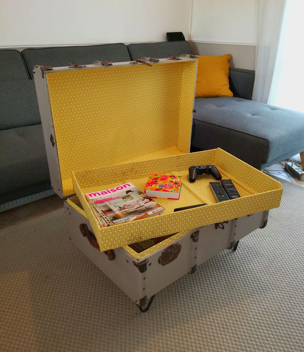 Malle Comme Table Basse malle cintrée : relookée table basse ou pied de lit – luckyfind