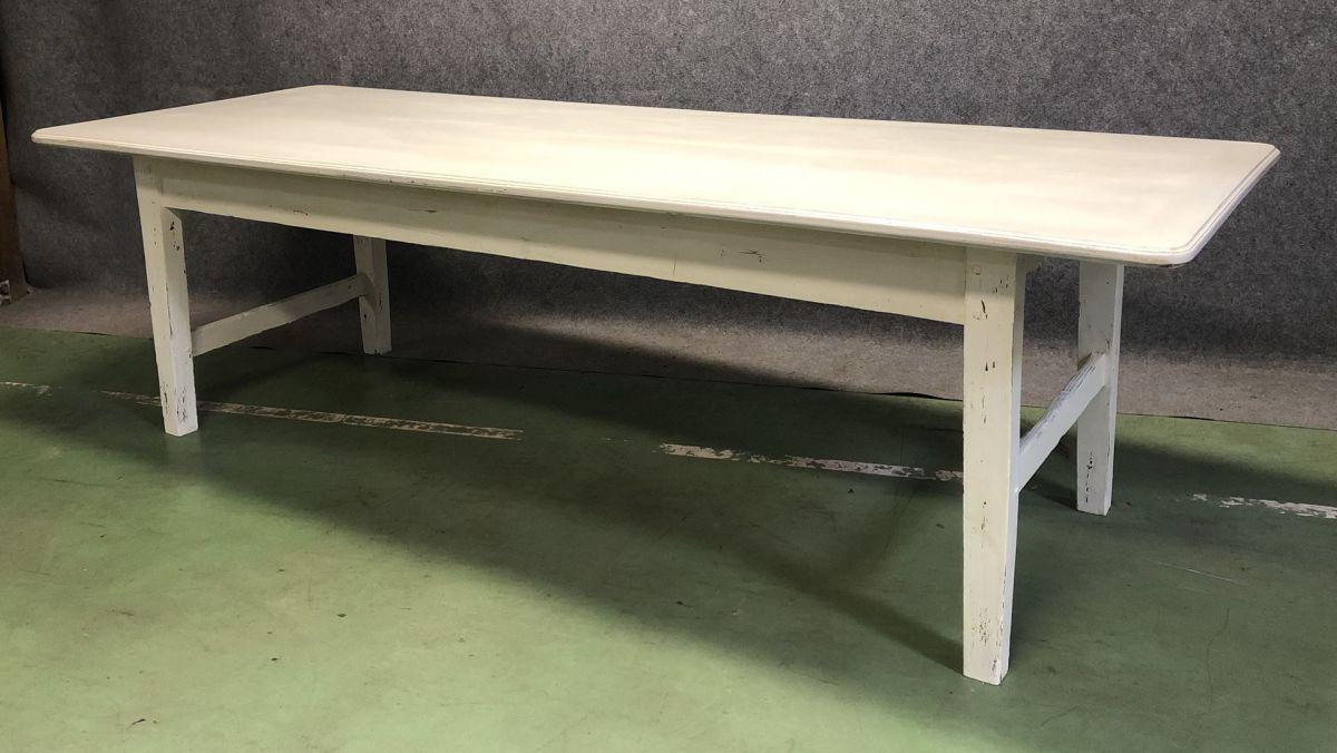 Comment Patiner Une Table table de ferme début xxème en sapin patine blanche mate