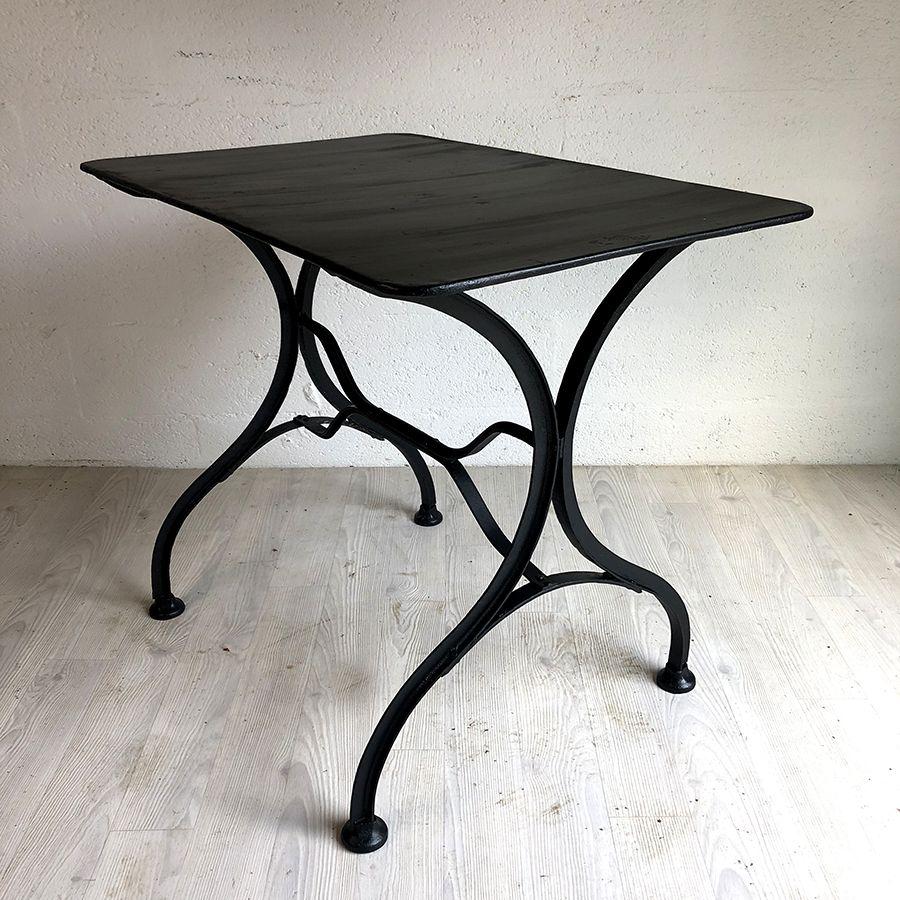 Table de jardin vintage 50\'s en métal noir – Luckyfind