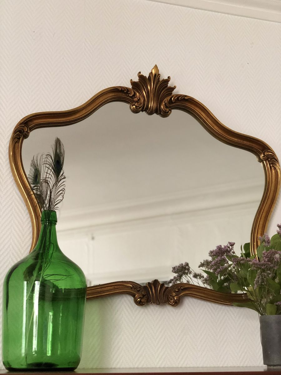 grand miroir art nouveau luckyfind. Black Bedroom Furniture Sets. Home Design Ideas