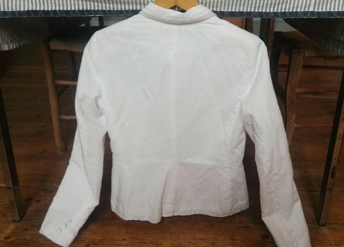 camaieu veste coton blanche