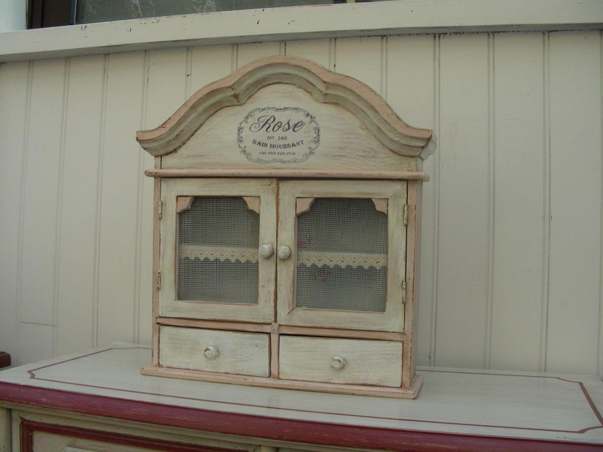 Housse De Canapé Shabby Chic etagère bois patinée shabby chic, petit meuble de rangement