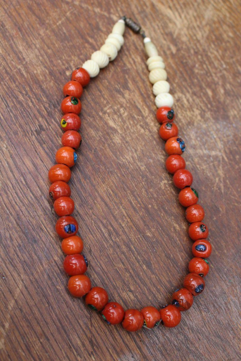 collier perle ceramique