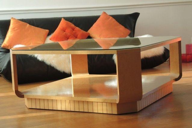 table basse vintage occasion luckyfind. Black Bedroom Furniture Sets. Home Design Ideas