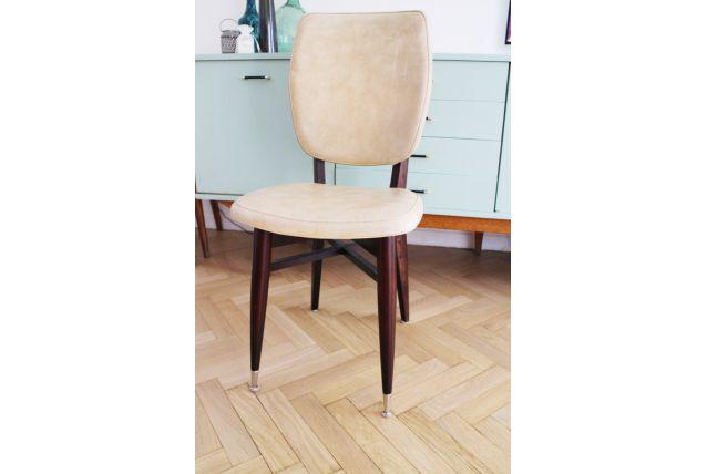 Chaise vintage scandinave pas ch re de couleur beige - Chaise de cuisine pas chere ...