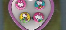 Lot de 4 bagues Hello Kitty