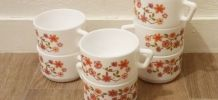 Lot de 7 tasses arcopal