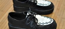 Chaussures style Creepers noires et blanches