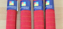 Lot de 4 sets de table rouge et or GUY DEGRENNE - neufs