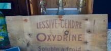 Plaque ancienne bois lessive Oxydrine