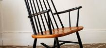 Rocking chair fauteuil style Tapiovaara larsson vintage