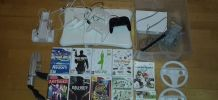 Wii+ Manettes+ Jeux+ Wii Fit +accessoires