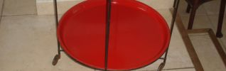 TABLE ROULANTE 1950 METAL KITCH ELVIS