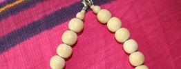 collier long bois perle fantaisie vintage hippie/ethnique/casual