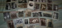 lot 30 cartes postales photos soldats couples mariages etc ..