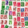 lot de 49 timbres français