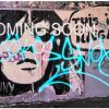 "Grande toile street art graffiti 81x122 cm ""So Illegal"""