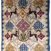 Tapis vintage Scandinave Rya fait main, 1B595