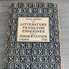 Littérature française enseignée par la dissertation
