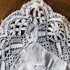 taie d'oreiller ancienne coton  dentelle