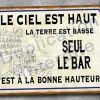 Plaque métal Bar