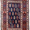 Tapis ancien Caucasien Kazak fait main, 1B665