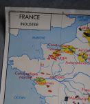 Carte scolaire Rossignol France commerce extérieur et industrie vintage