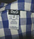 robe droite décolleté motif vichy T30/44 dolce&cabbana vintage