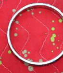 bracelet rond effet argente