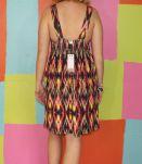 robe droite pinup dos nue TXL/42-44 esprit de la mer multicolor