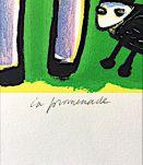 Litographie ORIGINALE Signée de Corneille - La promenade (EA 19/30)