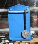 Porte ustensile en tôle bleu 50 cm X 35 cm, porte louche, ac