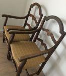 Deux chaises / fauteuils vintage rare