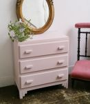 Commode vintage rose poudré