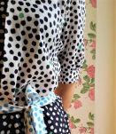 Jeanne - Robe mi-longue bicolore vintage