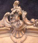 Fonton trumeau cartouche de porte ancien Rocaille Louis XV
