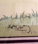 SCENE DE CHASSE signée HARRY ELIOTT