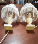 2 lampes en albatre de chevets