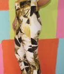 pantalon court motif fleur T36 Jacobson vintage