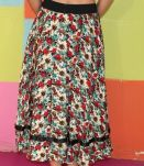 Jupe long motif fleuri T38-40 vintage retro
