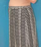 jupe droite mi longue motif 80's T46-48 vintage rétro