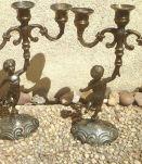 paire de chandelliers Cherubin anciens vintages