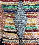 Tapis boucherouite berbère tissé main au Maroc