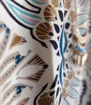 Top manches courtes blouse bohème motif floral